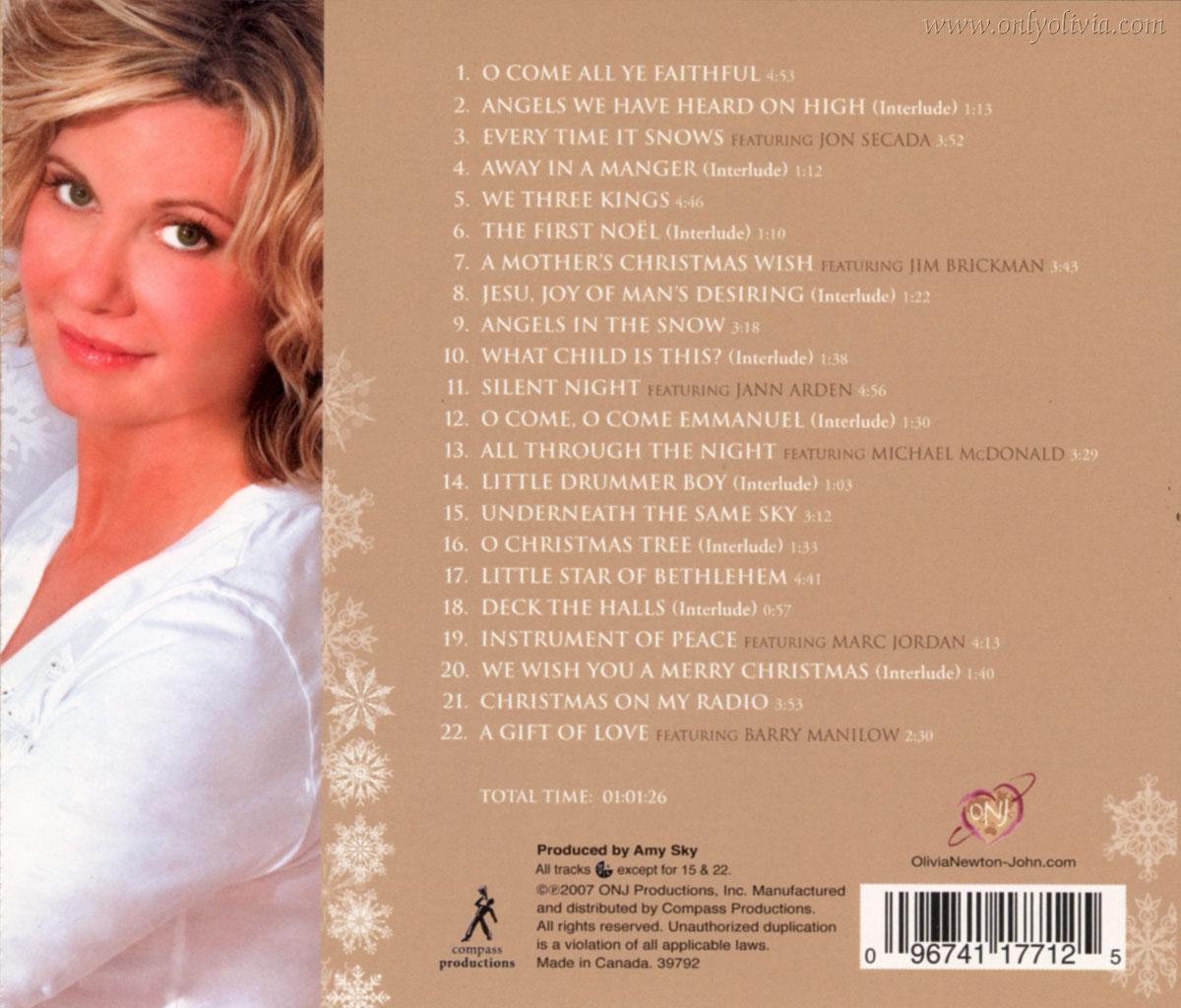 Olivia Newton-John -> music -> albums -> Christmas albums -> A ...