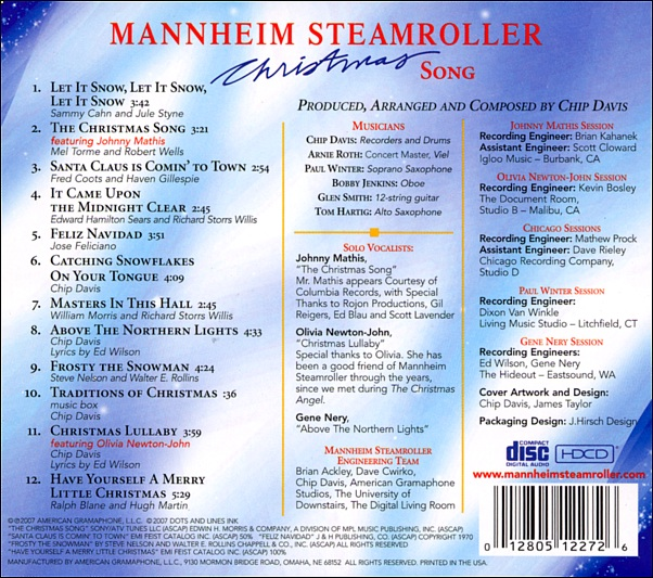 Olivia Newton-John -> music -> albums -> guest albums -> Christmas ...