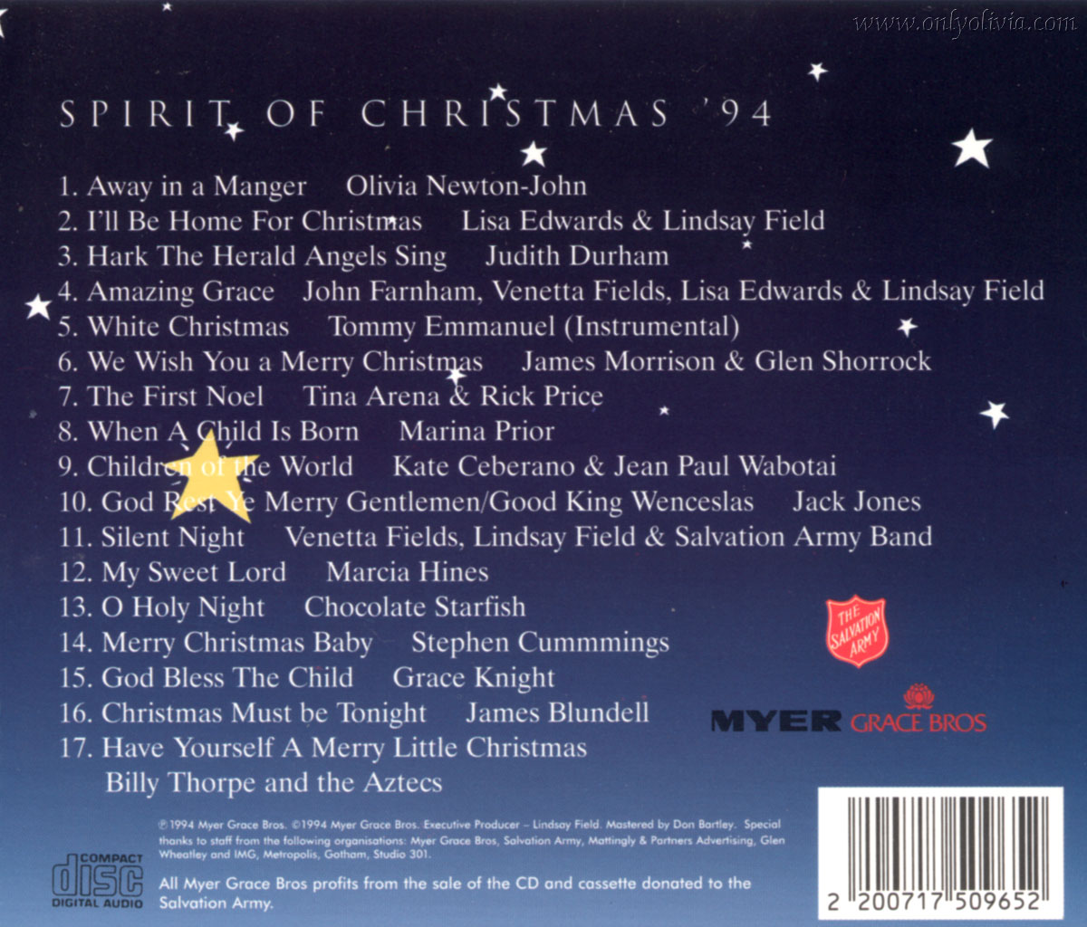 Olivia Newton-John -> music -> albums -> guest albums -> Christmas ...