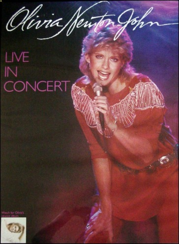 Poster of olivia newton john from the physical concert tour