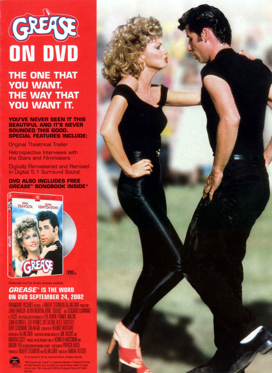 Grease DVD Ad