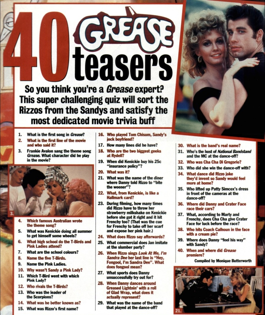 40 Grease teasers quiz - New Weekly